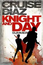 KNIGHT AND DAY Movie POSTER 27x40 B Tom Cruise Cameron Diaz Maggie Grace Peter