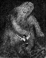 Theodor Kittelsen   Troll and the Boy B & W  Wall Art  Canvas