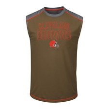 Cleveland Browns NFL Brown/Gray Men's Muscle Shirt, Size Large, New With Tags