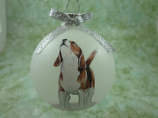 D026 Hand-made Christmas Ornament dog- Beagle - howling