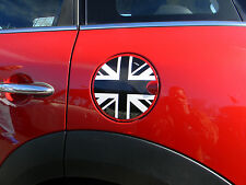 BLACK AND WHITE UNION JACK FUEL CAP GAS DOOR COVER GRAPHIC DECAL FIT MINI COOPER