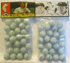 2 Bags Of Mickey Mantle Baseball Great Promo Marbles