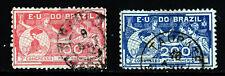 BRAZIL 1906 Pan-American Congress Set SG 259a & SG 259b VFU
