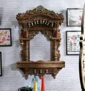Traditional Wooden jharokha Rajasthan style Hand Carved Wooden  Jharokha