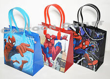 SPIDERMAN GOODIE CANDY BAGS LOOT PARTY FAVORS 12 PC SPIDEY PARTY BAGS SUPER HERO