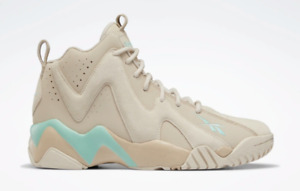 Kamikaze II Men's Basketball Shoes Modern Beige / Stucco / Pixel Mint RARE 11.5
