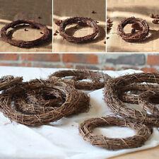 Christmas Artificial Vine Ring Wreath Rattan Wicker Garland Xmas Party Decor TH