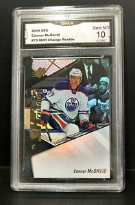 2015-16 SPX Shift Change #75 - CONNOR McDAVID - Rookie - GMA 10 - GEM MINT