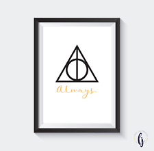 Harry Potter A4 Print - Deathly Hallows - Always.