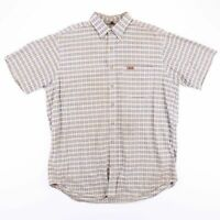 Vintage CARHARTT Beige & Blue Check Casual Worker Shirt Size Men's XL