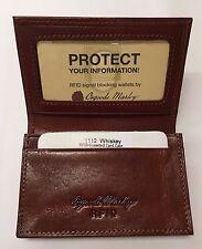 Osgoode Marley Sienna Leather RFID Blocking Gusset Card Case 1112 Whiskey
