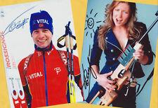 Ole Einar Björndalen-Darya Domracheva (4) - 2 TOP AK pictures + Photo + 2 Ski AK