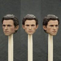 1/12 Scale Spider-Man Tom Holland Male Head Sculpt Fit For 6'' Action Figure Toy