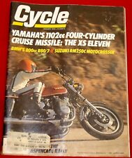 Cycle Magazine January 1978 Suzuki RM 250, BMW R80/7, Yamaha XS Eleven