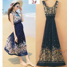 Sexy Women Evening Party Dress Chiffon Dress Summer Beach Dresses-1A