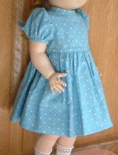 new blue print dress suitable for Susan Stroller or other vintage walking doll