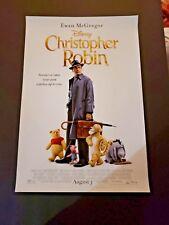 Christopher Robin (2018) 13 1/4 x 19 1/2 Original Poster  *NOT A REPRINT*