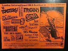 Vintage Flyer London Ska Festival 1989 Toasters Laurel Aitken Skaos Skinhead Oi