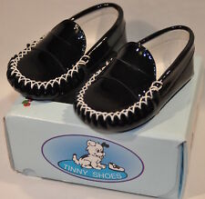 NEW: TINNY Baby Shoes made in Spain: Size 4 (EU 19) FREE SHIPPING-Black Patent