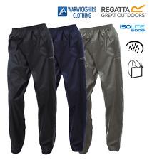 Regatta Unisex Waterproof Breathable Packaway Lightweight Over Trousers