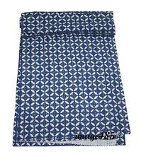 Indigo Blue Print Kantha Blanket Reversible Quilt 100% Bedspread Organic Cotton