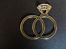 10 xGold/Silver wedding/engagement ring,card toppers, invitation, die cut.