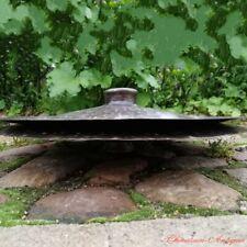"""Hand Bell 16"""" Tibetan Taoism Temple Ritual Bell Bronze lion cymbals 青銅廣鈸 #1599"""