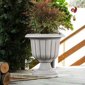 Plastic Garden URN Planter Pots. Flower Pot Garden Stand. Vintage Style.