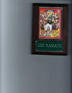 JOE NAMATH PLAQUE NEW YORK JETS NY FOOTBALL NFL   C3