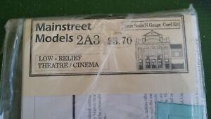 Mainstreet Models N gauge 2A3 Low Relief Theatre / Cinema kit, unopened