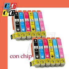 12 CARTUCCE EXPRESSION PHOTO XP55 XP750 XP660 CON CHIP COMPATIBILI EPSON
