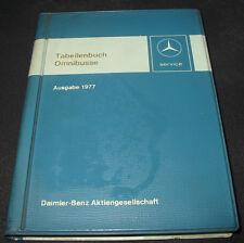Tabellenbuch Mercedes Omnibus Bus O 303 / O 305 / O 307 Ausgabe 1977