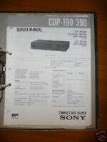 Manual de servicio Sony CDP-190/390 Reproductor de CD,ORIGINAL