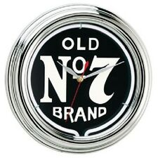 Jack Daniels® Old No. 7 Neon Clock  JD 30205 w/ FREE Shipping