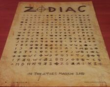 ZODIAC MOVIE POSTER 1 Sided ORIGINAL MINI SHEET 18x24 JAKE GYLLENHAAL