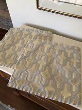 Cut VELVET Custom Made PILLOW Covers fabric Silver Gold Set Of 2!!