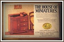 DOLL HOUSE OF MINIATURES CHIPPENDALE  DRY SINK KIT, COLONIAL ANTIQUE REPLICA