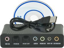 USB External S/PDIF Optical Sound Card Channel 5.1 DAC Audio Line In