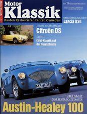 Motor Klassik 11/93 1993 Opel GT Citroën DS Austin-Healey 100 Porsche Carrera RS