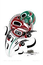 Raven, Moon, Frog and Mosquitoes Danny Dennis Art Card Tsimshian Northwest Coast