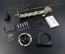 """Fuel gauge chrome bezel 2"""" 52mm with fuel tank level sender universal 12v"""