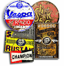 VESPA  STICKER RAT PACK 4 BY VOODOO STREET™, self adhesive, superior print.