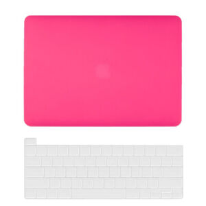 """Rubberized/Crystal Hard Shell Case Keyboard Cover for MacBook Air Pro 13"""" M1 15"""""""