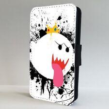 Rey Boo Super Mario Nintendo Flip Teléfono Estuche Cubierta para IPHONE SAMSUNG