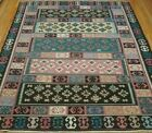FINE FLAT WOVEN KILIM HAND WOVEN WOOL COLORFUL ORIENTAL RUG CLEANED 8.4 x 9.9