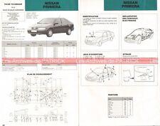 NISSAN Primera - 1998 : Fiche Technique Auto Carrosserie / Peinture
