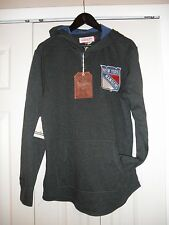 Mitchell & Ness New York Rangers Hooded Long Sleeve, size Large, NWT'S