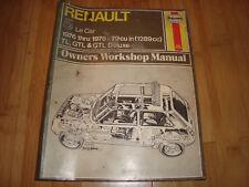 Haynes Renault 5 LE Car 1976-1978 79CU IN TL GTL Owners Workshop Manual 141 CWI