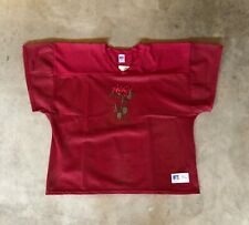 New Rose Mesh Football Jersey Practice Top Shirt EDC Rave Maroon XL Unisex
