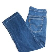Levi's VINTAGE Orange Tab Made in USA 575 Relaxed Raw Edge Jeans, Size 35 inches